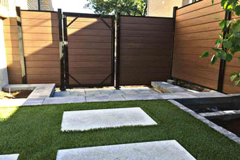porte cloture composite ezfence