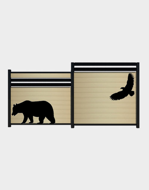 Acessoire de cloture kit aigle ours aluminium decal